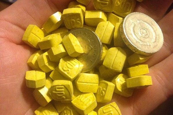Yellow cube shape Yellow UPS Mdma Ecstasy
